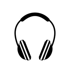 Headphone black icon vector image
