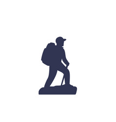 Hiker icon vector