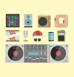 hip hop accessory musician instruments breakdance vector image