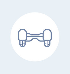 hoverboard icon isolated on white vector image