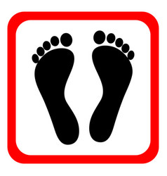 human footprints icon vector image