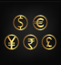 international currency icon collection vector image
