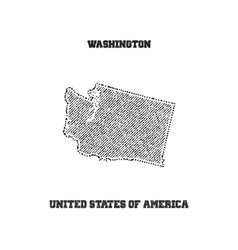 Label with map of washington vector image