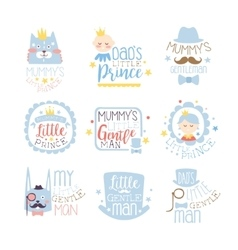 Little Prince Set Of Prints For Infant Boy Room Or vector image vector image