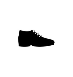 male shoes icon on white background clothing or vector image