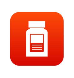 Medicine bottle icon digital red vector