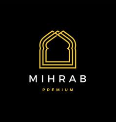 Mihrab logo icon vector