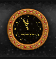 new years eve clock vector image vector image