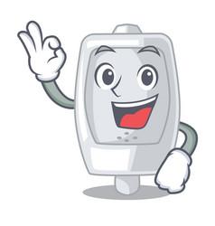 Okay urinal in the a cartoon shape vector
