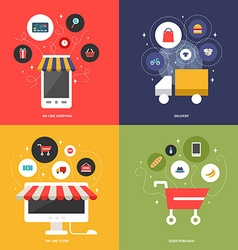 On-Line Shopping Delivery On-Line Store Good vector