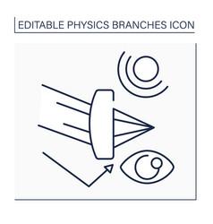 Optics line icon vector