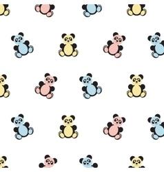 Panda bear pattern vector