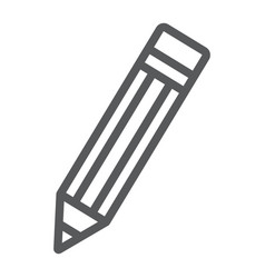 pencil line icon tools and design pen sign vector image