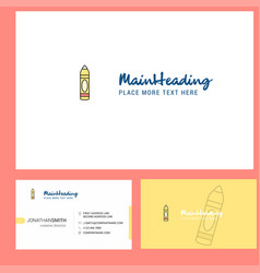pencil logo design with tagline front and back vector image