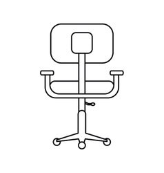 Pictogram chair office comfort workplace design vector