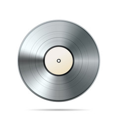 Platinum album vinyl disc template on white vector