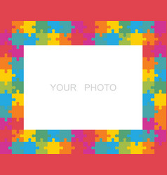 Puzzle frame or border vector