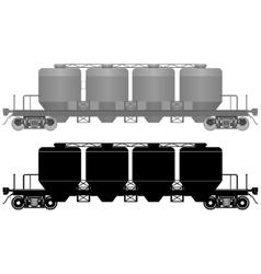 Railway carriage for bulk cargo-3 vector
