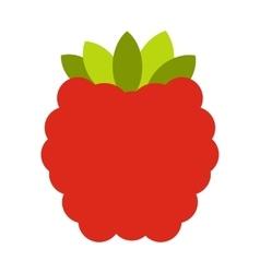 Raspberries flat icon vector image