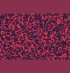 red mosaic squares like pixel background vector image
