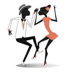 romantic dancing young african couple vector image