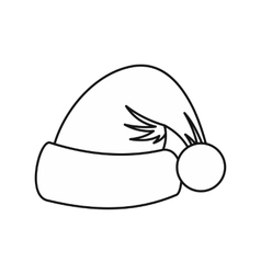 Santa Claus hat icon outline style vector image