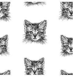 seamless background sketches head vector image