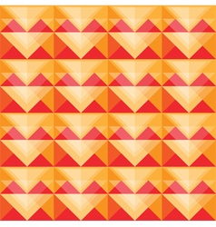 Seamless warm triangle pattern design vector