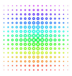 Searchlight icon halftone spectrum grid vector
