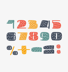 set of numbers from one to zero vector image