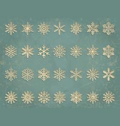 Snowflakes set elegant vector