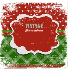 Snowy Christmas vintage background vector image
