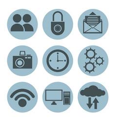 social media icons vector image