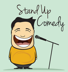 stand up comedy vector image