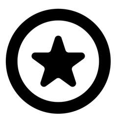 star icon black color in circle vector image