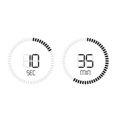 stopwatch timer digital countdown vector image