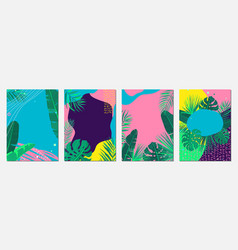 summer abstract background set pattern vector image