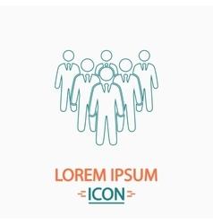 team computer symbol vector image