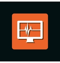 test cardiology display isolated icon vector image