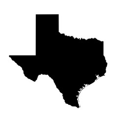 texas tx state border usa map solid vector image