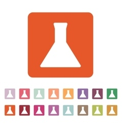 The test-tube icon Flask and chemical analysis vector image