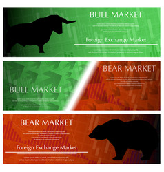 Three market banners vector