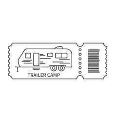 ticket with barcode and trailer vector image