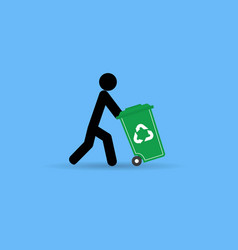trash man for cleaner vector image