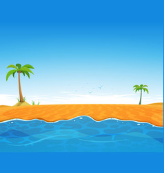 Tropical summer beach vector