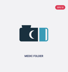 Two color medic folder icon from animals concept vector
