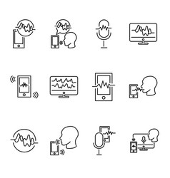 voice recognition collection vector image