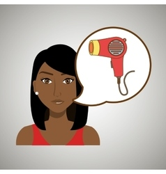 Woman accessories hairdryer vector
