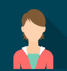 Woman icon flat single avatarpeaople icon from vector