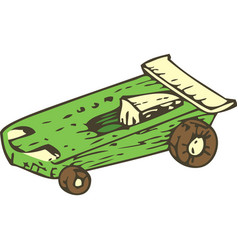 wooden toys racing car vector image